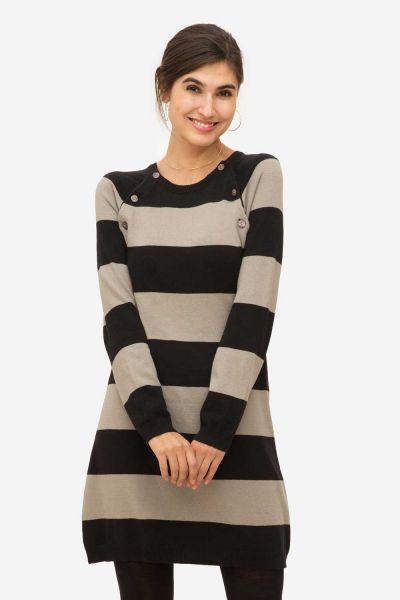 Stillkleid Umstandskleid Milker Liddy black/beige