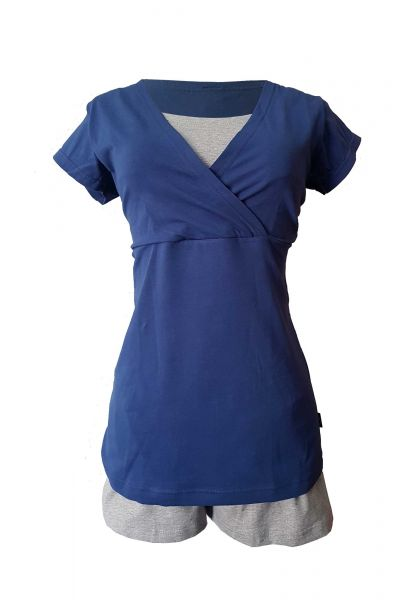 Cora Voedingspyjama zwangerschapspyjama met korte mouwen