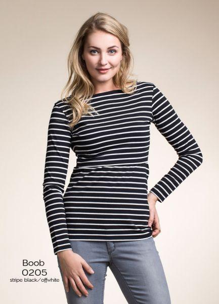 Boob 0205 stripe black/offwhite