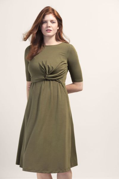 Boob 1579 Twist dress forest green