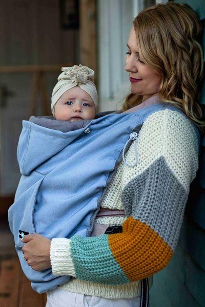 fun2Bmum Babywearing Cover baby blue melange