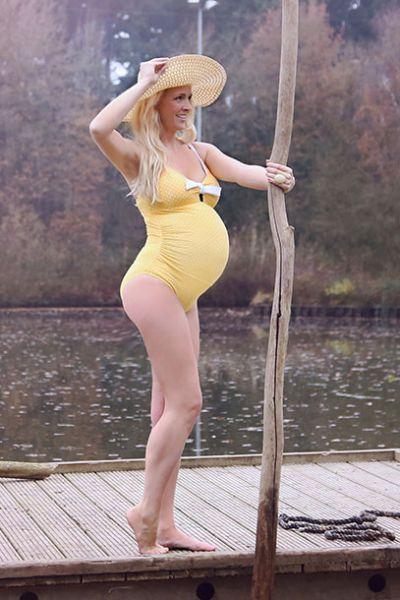 Umstandsbadeanzug Antonie yellow