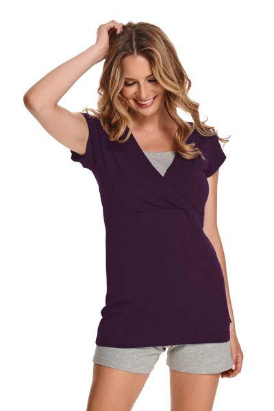 Cora pyjama maternité/allaitement manches courtes