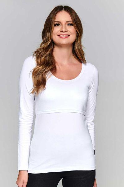 Lara shirt allaitement blanc