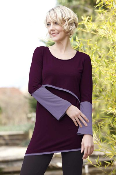 Amyline Luna Stillshirt Stilltunika blackberry-mauve