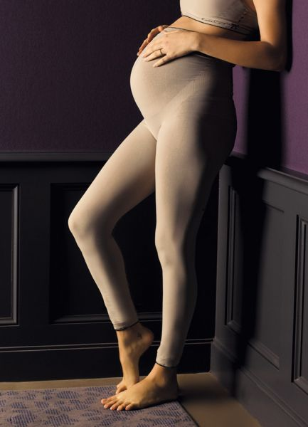 Cache Coeur Illusion Leggings beige Seamless