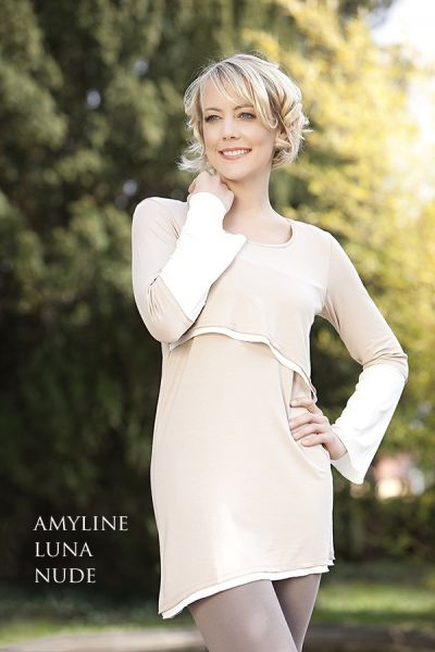 amyline Luna Stilltunika nude-offwhite