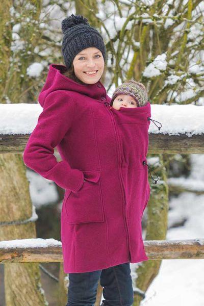 Mamalila Vienna berry 4en1 manteau capuche maternité et de portage