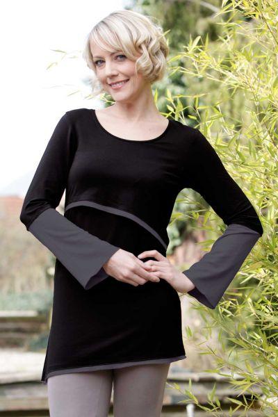 Amyline Luna Stilshirt Stilltunika black-stone