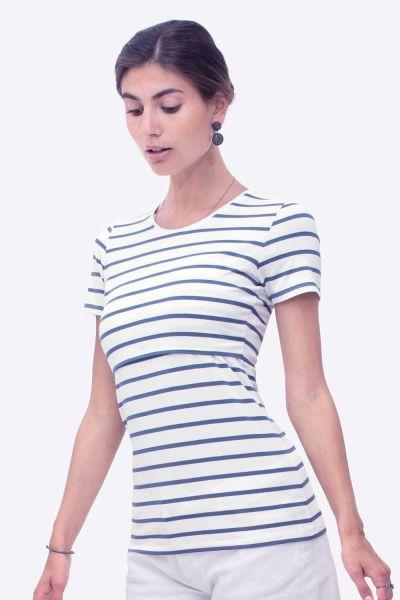 Milker Noor creme/blue stripe (cre)