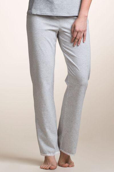 boob 2609 Pyjamahose stripe offwhite/grey