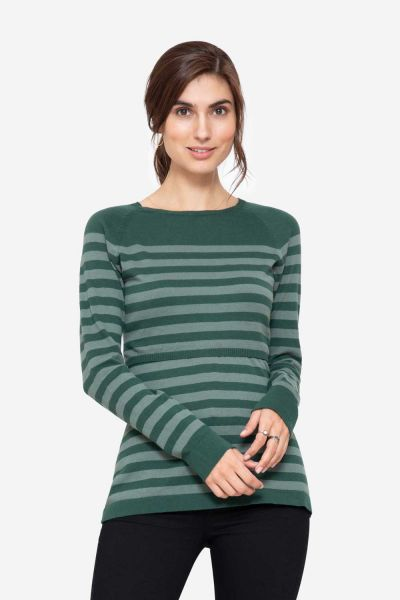 Milker Elvira green striped (pil)