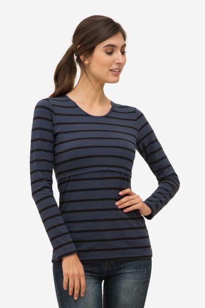 shirt grossesse allaitement Milker Nuka blue striped (stb)