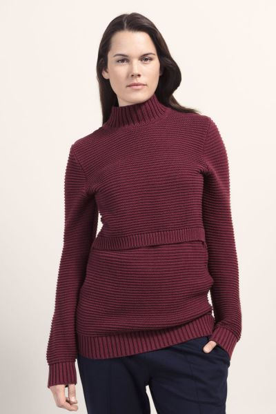 Boob 1229 Elisa Stillpullover oxblood red