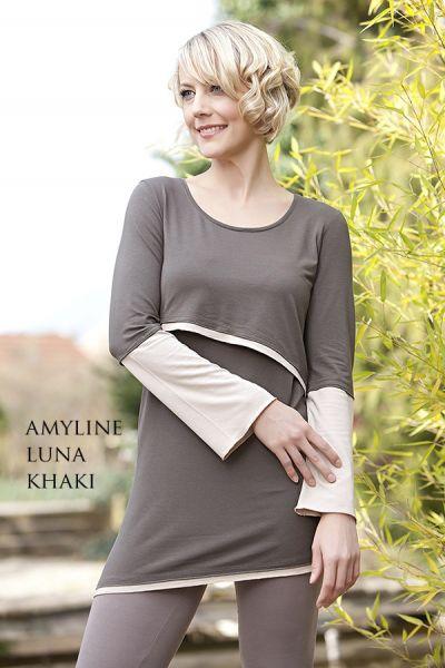 Amyline Luna Stilltunika khaki-nude