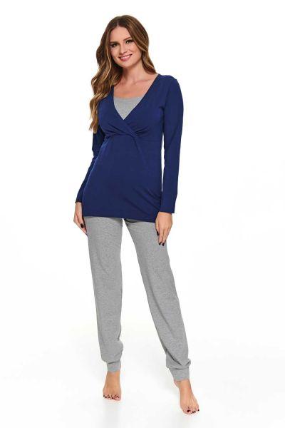 Ella pyjama maternité/allaitement manches longues