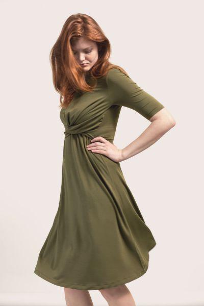 Boob 1579 Twist dress forest green