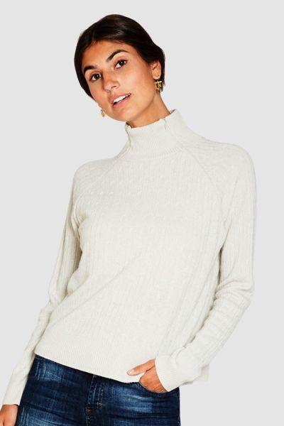 Stillpullover Umstandspullover Milker Rosa white/beige