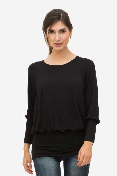 Milker Zally Stillshirt black (blk)