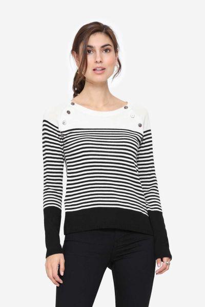 Milker Lue black/creme striped (blcr)
