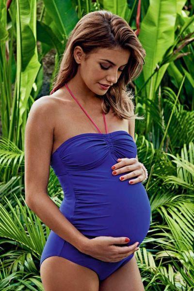 Anita Maternity 9522 blue Samoa Schwangerschafts-Badeanzug
