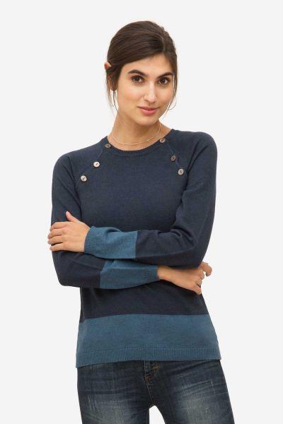 Milker Lea Stillpullover Umstandspullover darkblue/blue